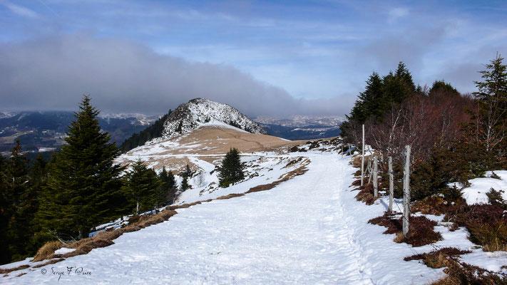 Le chemin du Sancy au Capucin - Massif du Sancy sous la neige - Auvergne - France