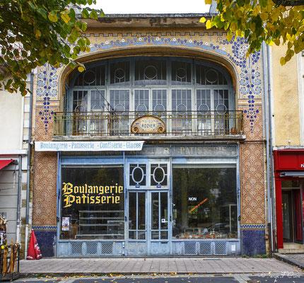 Façades et vitrines - Maison Rozier (Boulangerie-Pâtisserie) - La Bourboule - Auvergne - France