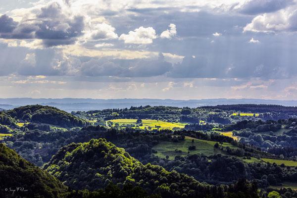 Paysage côté Avèze - Vu de Murat le Quaire - Le Massif du Sancy - Auvergne - France