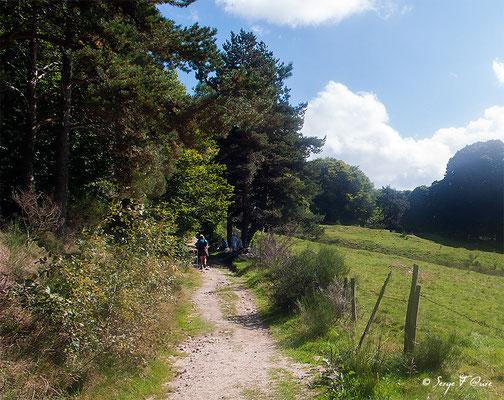 En allant vers Le L'Hospitalet - France - Sur le chemin de St Jacques de Compostelle (santiago de compostela) - Le Chemin du Puy ou Via Podiensis (variante par Rocamadour)