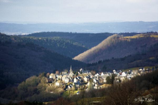 """""""St Sauves d'Auvergne"""" Photo façon tableau peinture Serge Faure"""