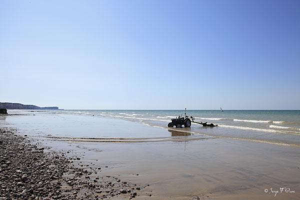 Plage de Veules les roses - Pays de Caux - Normandie - France