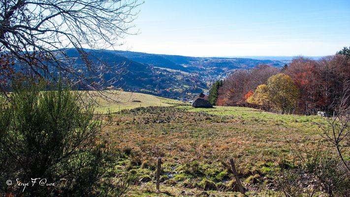 La Bourboule vue de chez Tamboine - Auvergne - France