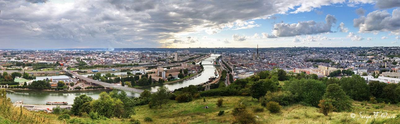 Rouen vu du Mont Gargan (Vue panoramique)