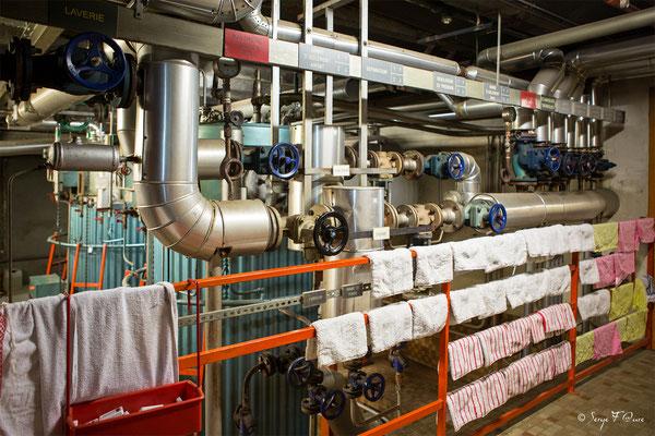 Machinerie chaufferie d'établissement thermal