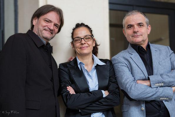"""Philippe Milanta (piano), Julie Saury (batterie)  et Bruno Rousselet (contrebasse) - """"Philippe Milanta Trio"""" - Sancy Snow Jazz 2016 - Café de la Plage à La Bourboule - Auvergne - France"""