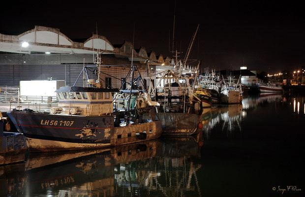 Le port de pêche de Dieppe la nuit (Haute Normandie - France - Juin 2012)