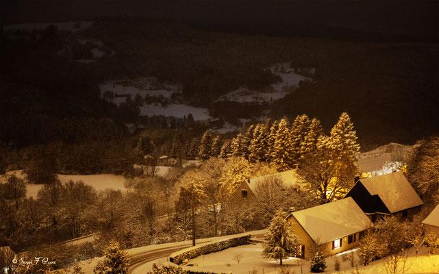 """Murat le Quaire """"un vrai paysage de Noël"""" - Massif du Sancy - Auvergne - France"""