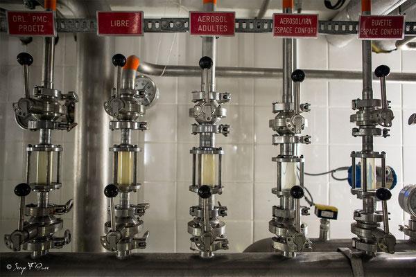 Vannes de contrôle d'eaux thermales