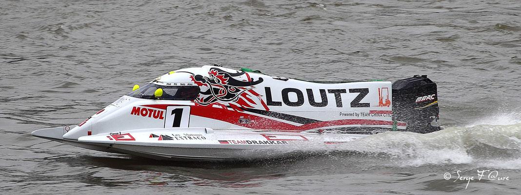 Vainqueur Classe 3 - Team Drakkar - Pilotes: P. Chiappe / P. Morin / A. Carel - 24 heures motonautiques de Rouen 2013 (50ème édition)