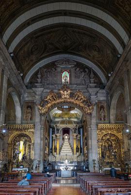L'intérieur de l'église du ` s de St Anthony rassemble construit dans le 18ème siècle - Ville historique de Porto - Portugal