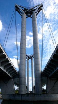 Piliers du pont Gustave Flaubert - Rouen - Seine Maritime - Normandie - France