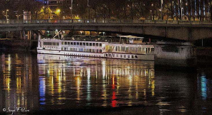 Sur les quais de Seine- Pont Boieldieu -  Rouen - Normandie - France - Novembre 2014