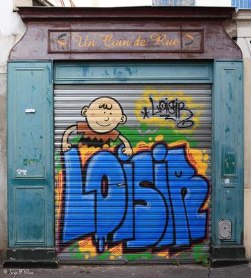 Petite rue du quartier Ménilmontant - Paris - France - 2011