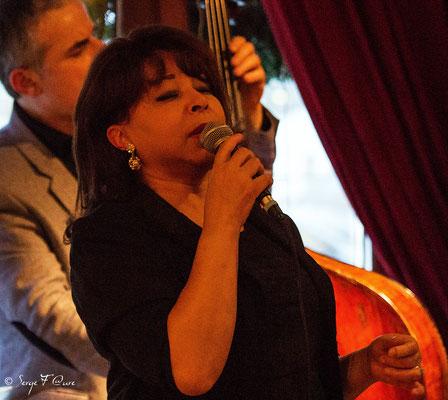 Leslie Lewis (chant) & Bruno Rousselet (contrebasse)- 26ème Festival de jazz 2015 (Sancy Snow Jazz) Le Mont Dore - Auvergne - France