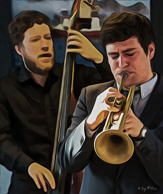 Malo Masurié (trompette) & Sébastien Girardot (contrebasse) - 26ème Festival de jazz 2015 (Sancy Snow Jazz) Le Mont Dore - Auvergne - France