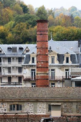 Cheminée de la chaufferie - des Grands Thermes de La Bourboule - Auvergne - France