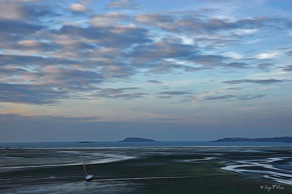 """""""La baie de St Brieuc"""" Photo façon tableau peinture Serge Faure"""