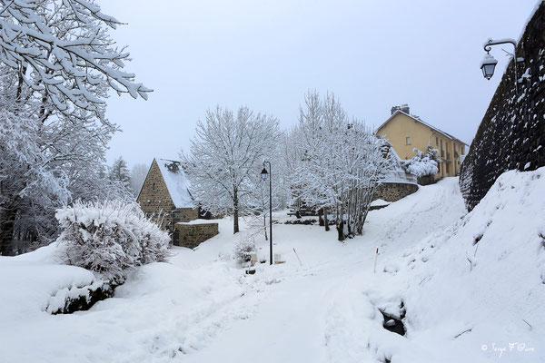Bourg de Murat le Quaire vu du château - Auvergne - France