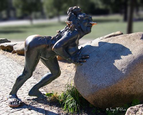 Bodetal - La belle sorcière Wadelinde - Le Harz - Allemagne - (le vrai pays des sorcières)