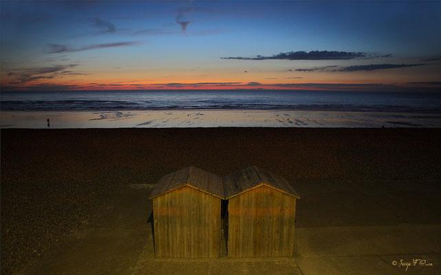 Les cabanes de plage à Dieppe (Haute Normandie - France - Juin 2012)