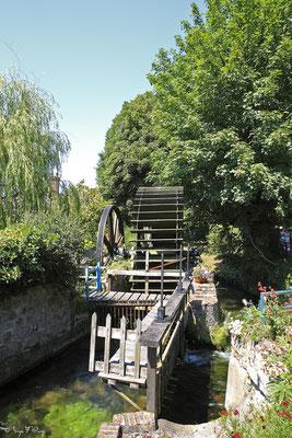 Roue à eau - Veules les roses - Pays de Caux - Normandie - France