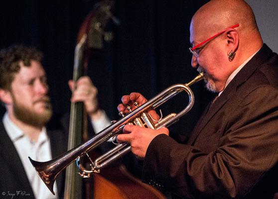 Patrick Artero (trompette) & Sébastien Girardot (contrebasse) - 26ème Festival de jazz 2015 (Sancy Snow Jazz) Le Mont Dore - Auvergne - France