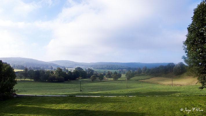 La Roche - France - Sur le chemin de St Jacques de Compostelle (santiago de compostela) - Le Chemin du Puy ou Via Podiensis (variante par Rocamadour)