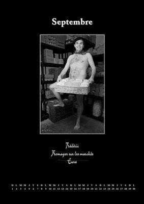 """Calendrier des Fromagers 2013 Septembre - """"Secrets de Fromages"""" - Frédéric - (Nus / Nudes) ©Photographie Serge Faure"""