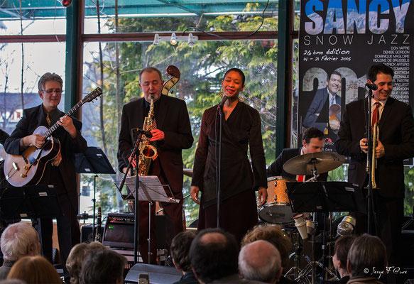 SancySnowJazz  2015 - Claude Tissendier & Faby Medina - La brasserie du soleil