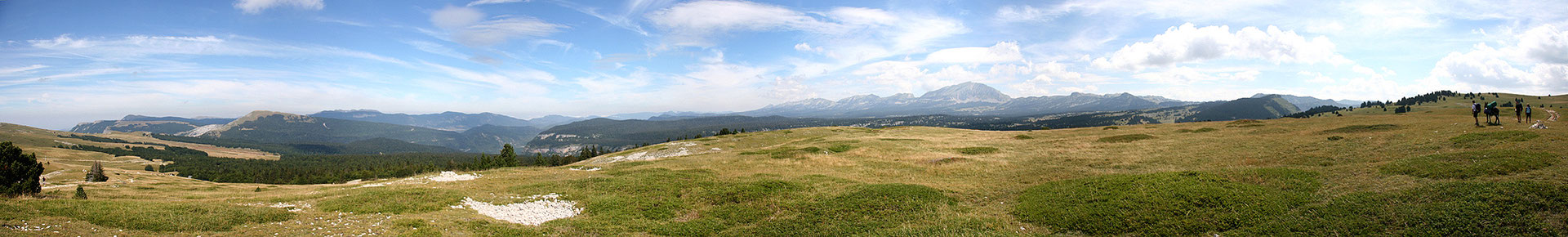 Traversée des Hauts Plateaux du Vercors - Photo panoramique - Août 2007