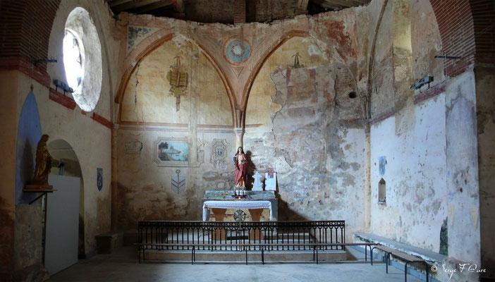 Chœur de la chapelle Sainte-Catherine du Port à Auvillar - France - Sur le chemin de Compostelle