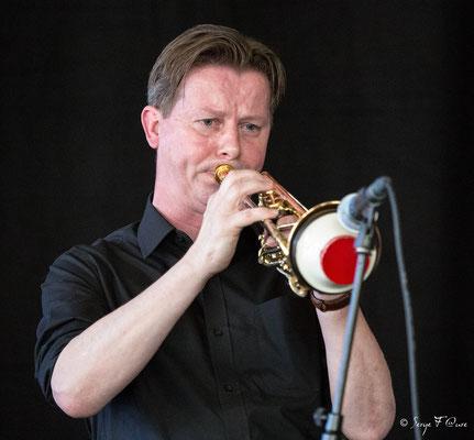 Colin T. Dawson (Trompette) invité - Sancy Snow Jazz 2016 - Brasserie du Soleil au Mont Dore - Auvergne - France