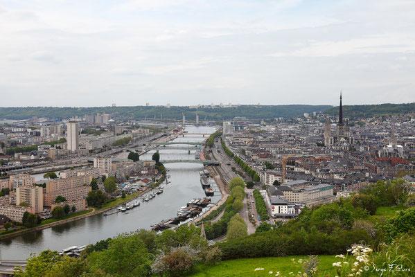 Rouen vu du Mont Gargan - Rouen - Seine Maritime - Normandie - France
