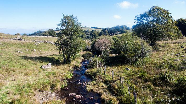 En allant vers Aubrac - France - Sur le chemin de St Jacques de Compostelle (santiago de compostela) - Le Chemin du Puy ou Via Podiensis (variante par Rocamadour)