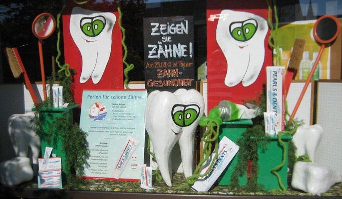 Dekoration Zahnpflege zum Tag der Zahngesundheit
