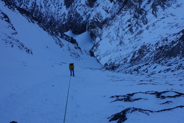 mit bergführerkollege manuel unterwegs