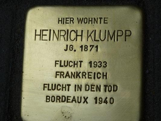 Stephanienstrasse 17, Heinrich Klumpp