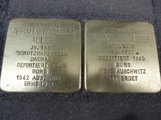 Gartenstraße 5, Prof. Abraham Arthur Adler und Brunhilde Adler geb. Levi