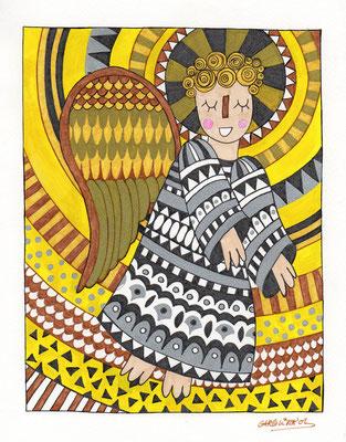 ANGEL, Acuarela sobre papel, 21 x 30 cm, Teruel 2015