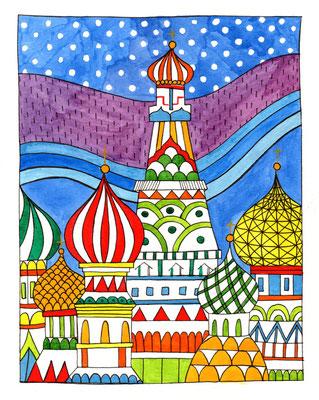 MOSCOW, Acuarela sobre papel, 18 x 24 cm, Teruel 2015