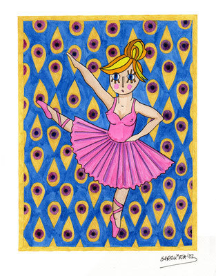 LITTLE DANCER, Acuarela sobre papel, 21 x 30 cm, Teruel 2015