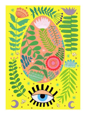 HUEVO, gouache sobre papel, 24 x 32 cm. Teruel, 2020.