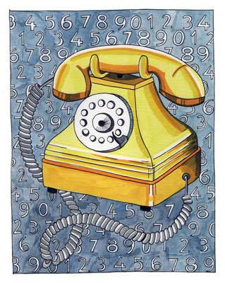 PHONE, Acuarela sobre papel, 18 x 24 cm, Teruel 2015