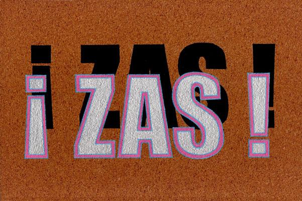 ZAS!, Acrílico sobre tabla, 20 x 30 cm, Teruel 2018
