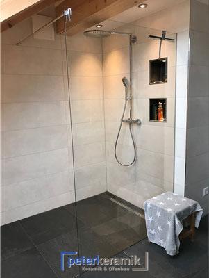 Bodenebene Duschen mit ausgeklügeltem Ablaufsystem