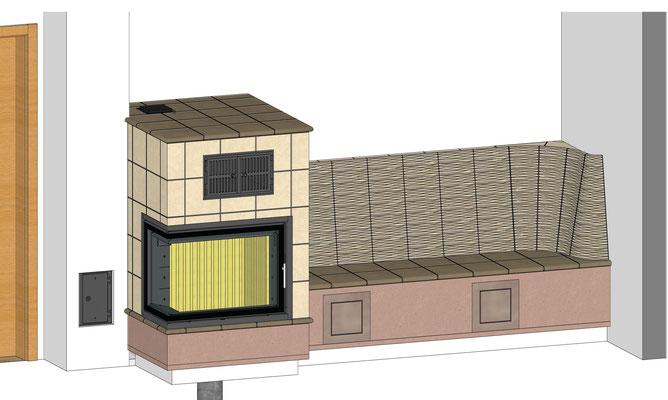 3D Planung Kachelofen