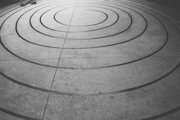 Béton imprimé motif spirale