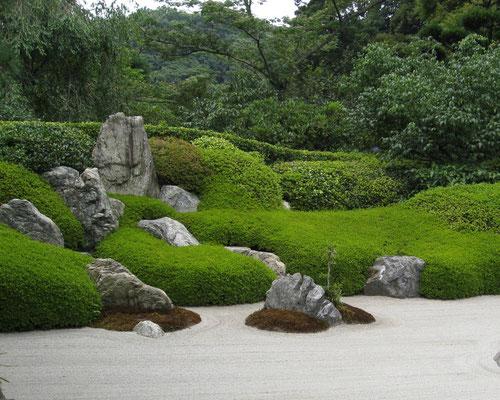 Jardin zen en sable naturel