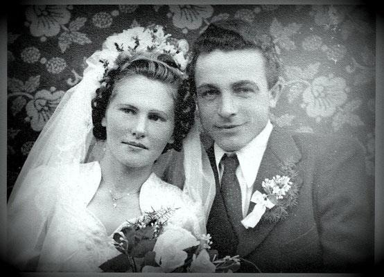 Anni  & Heinrich, Hochzeitsbild 1952